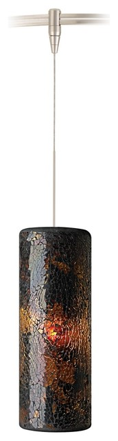 Veil Brown Glass Satin Nickel LED Tech Lighting MonoRail Pendant contemporary-track-heads-and-pendants