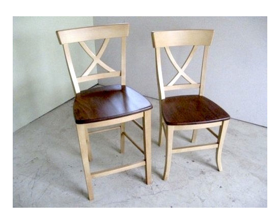 Country Style Cross Back Dining Stool - Made by http://www.ecustomfinishes.com