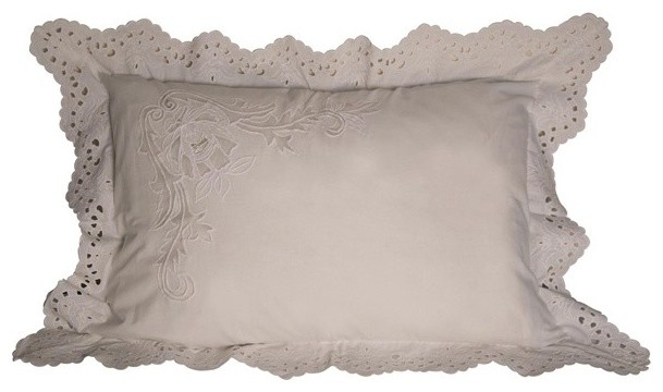 RION Furniture - Elizabeth Sham Queen Pillow (Set of 2) - GFBS001S traditional-decorative-pillows