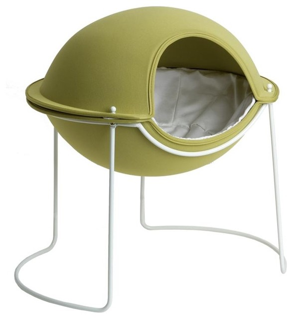 Pod Bed in Spring Bud Green contemporary pet accessories