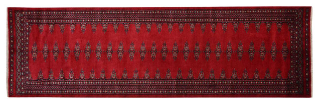 Jaldar Design Hand Knotted 100% Wool Bokara Runner Oriental Rug Sh15134 traditional-rugs