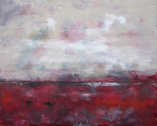 """Linda Donohue - Coastal Ocean Seascsape Painting Orignal Art - Cranberry Sea 20 x 16 - This is an original acrylic painting on gallery wrapped canvas. It measures 20"""" w x 16""""h x 1 3/8""""d. The sides are painted to match the front and it's ready to hang as it is or be put into a frame."""