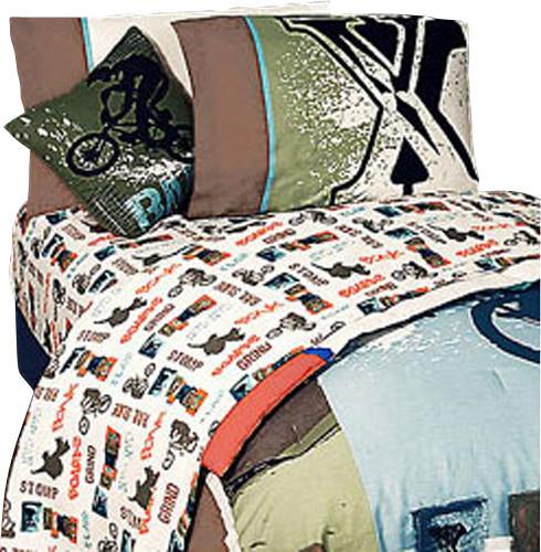 4 pieces xgames pop culture bmx full bedding sheet set for Bmx bedroom ideas
