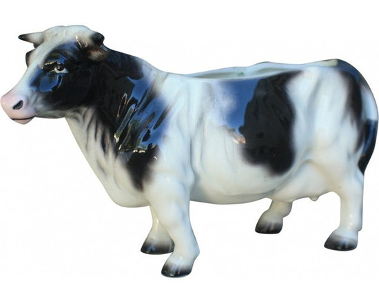 Cow Planter - ceramic cow planter, circa 1960