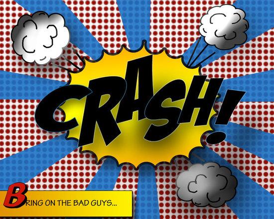 11x14 Print of Comic Book Sound Crash   Original Design - superhero theme room -
