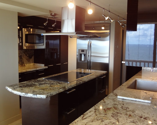 Fort Lauderdale - Contemporary Kitchen Cabinets in high gloss finish