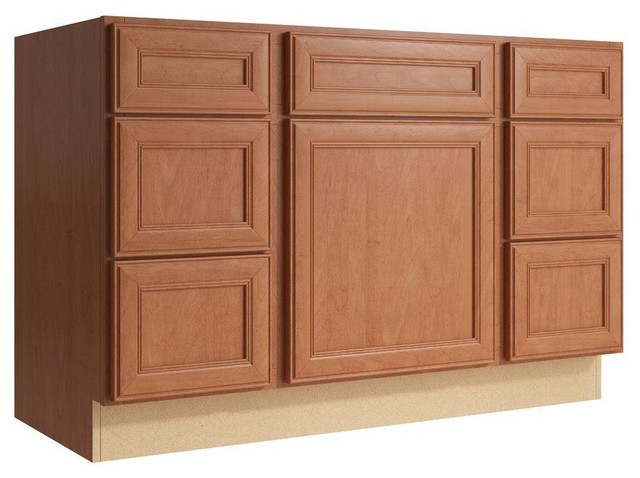 Cardell Cabinets Boden 48 In W X 31 In H Vanity Cabinet Only In Caramel Contemporary