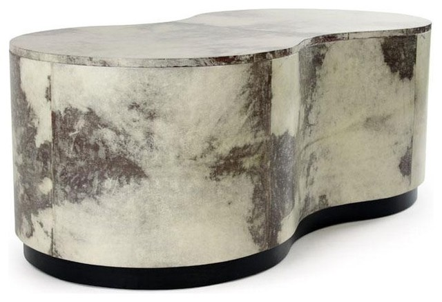 Julian Chichester Rose Kidney Shaped Coffee Table traditional-coffee-tables