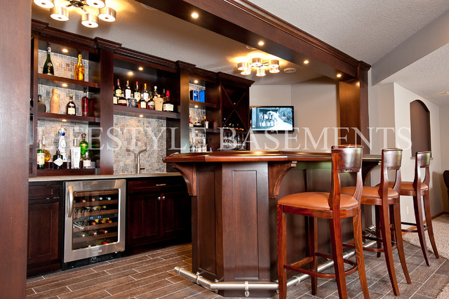 Wet Bar contemporary-basement