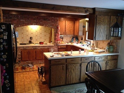 Before Photo: Custom Cement Tile Design Adds Personalized Touch traditional