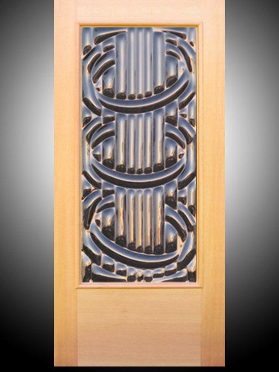 "Sculptural Glass Doors - ""Accord"" - Sculptural Art Glass Entry Door -"