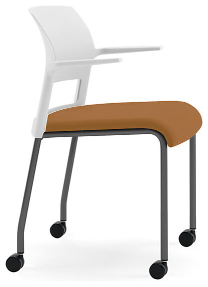 Steelcase Move Multi-Use Chair, Black Frame w/Arms & Casters modern-office-chairs