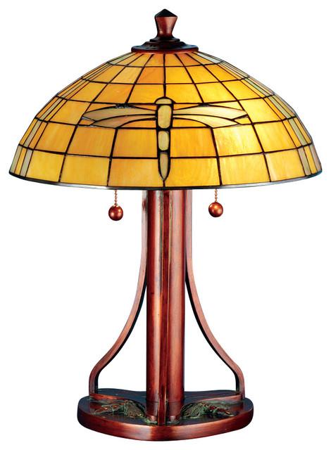 meyda lighting 71419 22 h arts and crafts dragonfly table. Black Bedroom Furniture Sets. Home Design Ideas