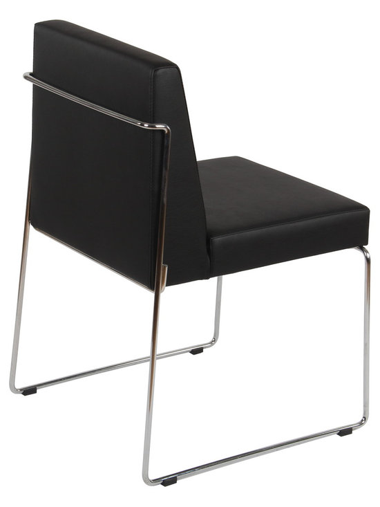 Nuans Design - Astoria Stackable Dining Chair by Nuans Design - Astoria Dining chair with fully upholstered high quality injection molded foam seat and backrest. Chrome plated steel frame. Stackable.
