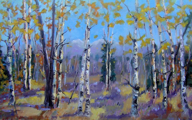 Amongst The Trees - Mike Brouse paints colorful Colorado contemporary-artwork