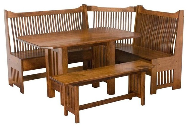 Mission Breakfast Nook Set Traditional Dining Tables Tampa By