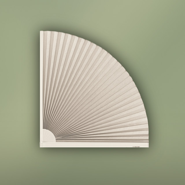 Quarter Arch Window Covering Contemporary Pleated