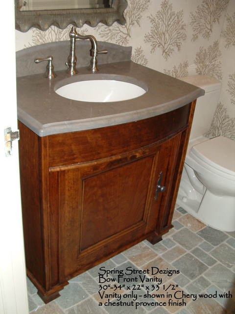 bath vanity bow front design eclectic bathroom newark by spring street dezigns
