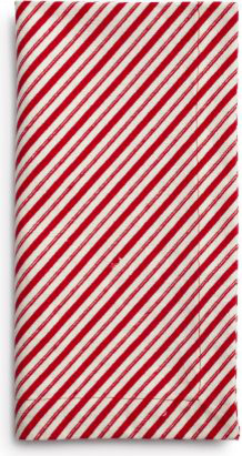 Peppermint-Stripe Napkins contemporary holiday decorations