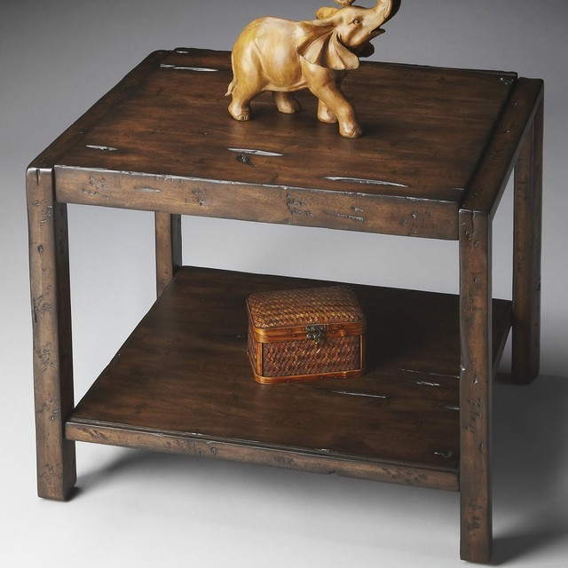 Butler End Table 24H in. - Mountain-lodge traditional-side-tables-and-accent-tables