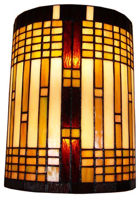 Amora Lighting Tiffany Style 2-light Geometric Wall Sconce