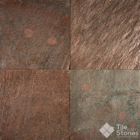 Copper gold gauged slate 12x12 16x16 contemporary for 16x16 floor tile