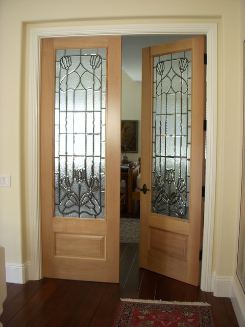 Interior Glass Doors Traditional Bedroom Austin By