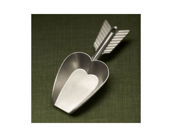 Beehive Heart Flour Scoop - Portion out flour, rice, and coffee with this 1/4 cup sized Heart scoop by Beehive.
