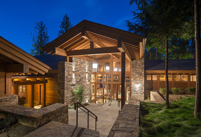 Luxury Wildnerness Retreat contemporary-exterior