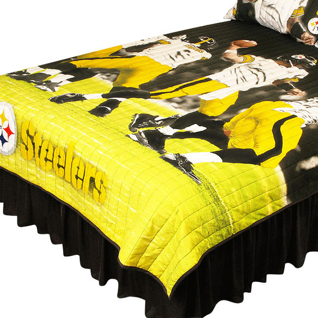 pittsburgh steelers twin full comforter set play action