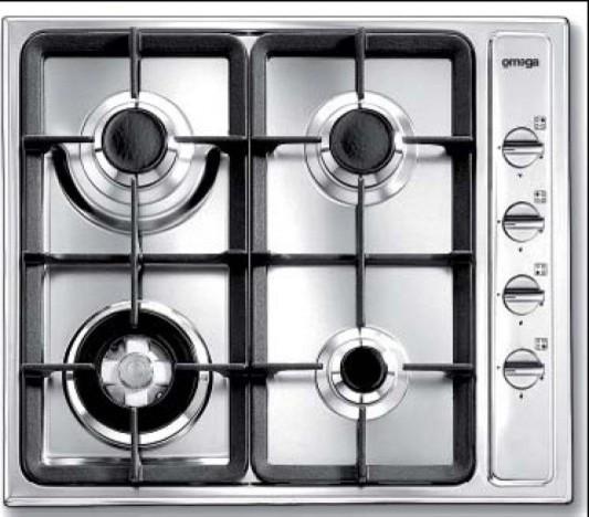 OMEGA - OG63XA - 60CM GAS COOKTOP contemporary-cooktops