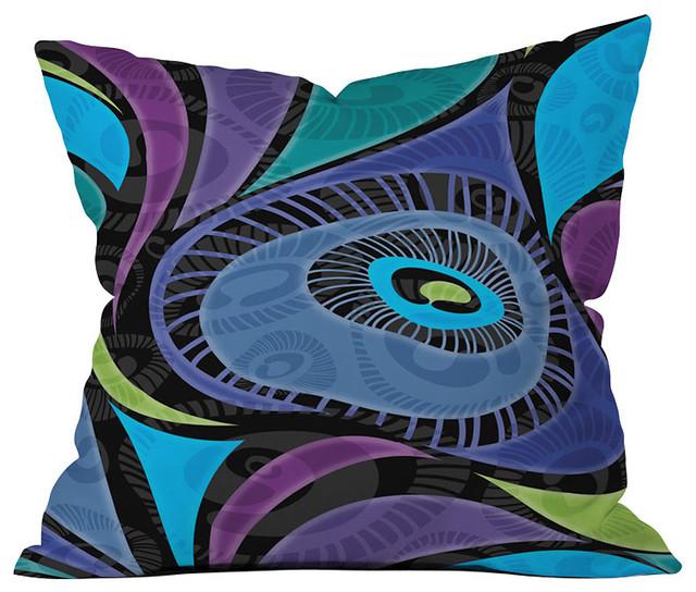 DENY Designs Gina Rivas Design Feather Eye Throw Pillow eclectic-decorative-pillows