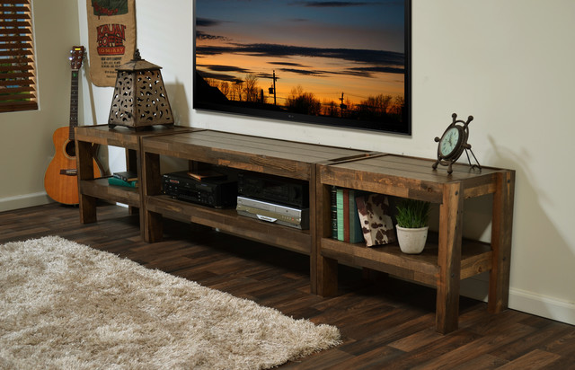 Reclaimed pallet barn wood style entertainment wall Wood entertainment center