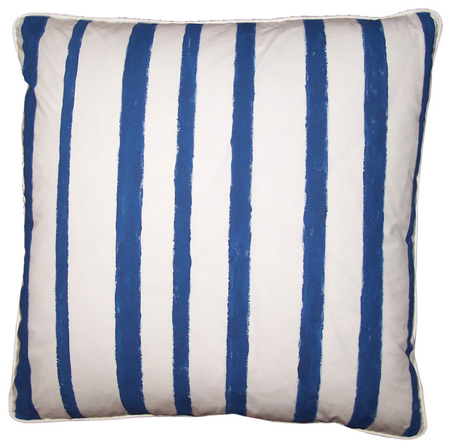 Stripe Pillow ~ Blue and White Covers eclectic-decorative-pillows