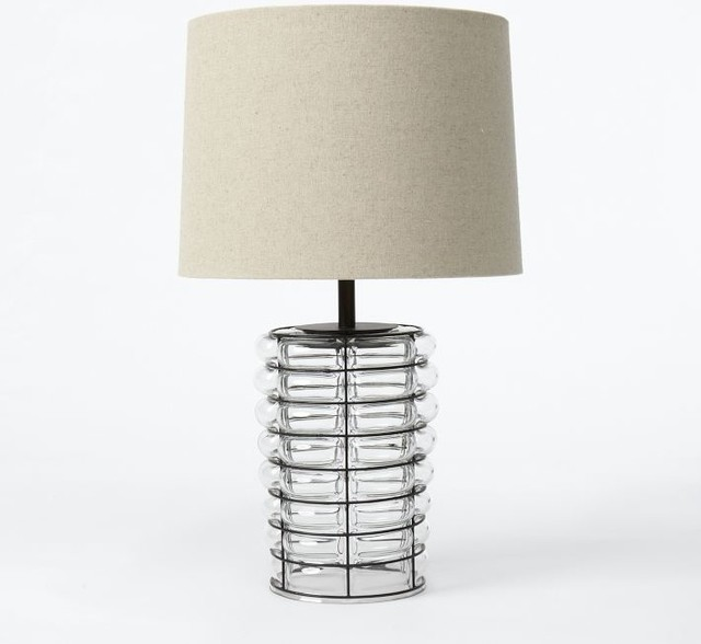 Linear Blown Glass Table Lamp contemporary-table-lamps