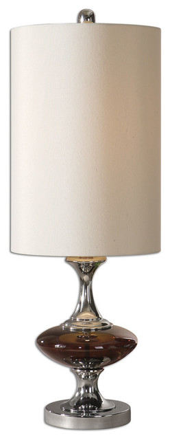 Amberetta Glass Buffet Lamp traditional-table-lamps