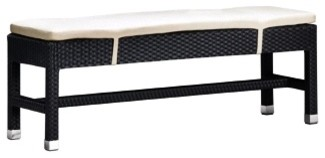 Zuo Myrtle Collection Double Seat Bench contemporary-outdoor-benches