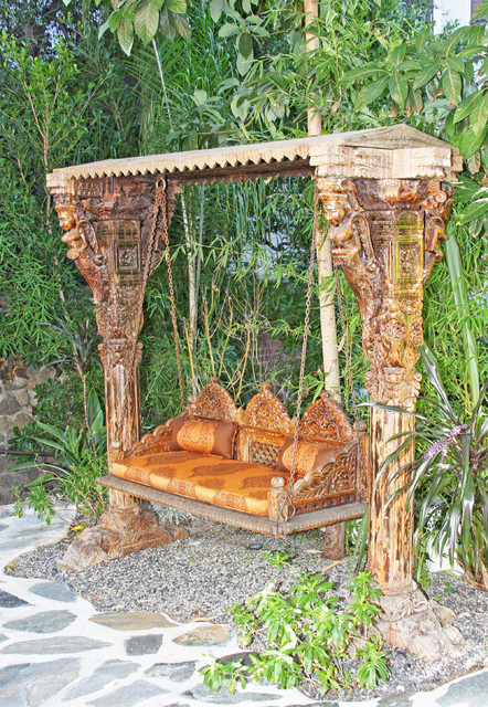 Indian jhula swing eclectic porch swings los angeles for Outdoor furniture india
