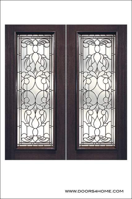 Exterior and Interior Beveled Glass Doors Model # L - Traditional - Front Doors - by Doors4Home