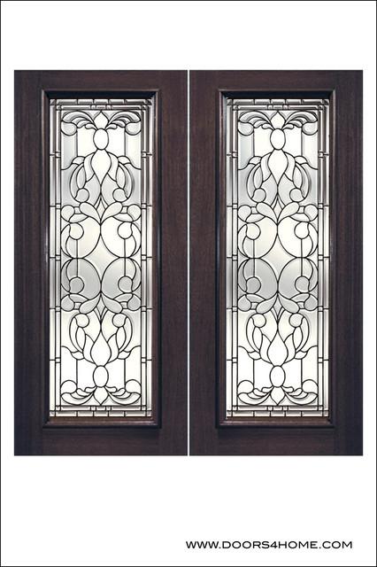 Exterior And Interior Beveled Glass Doors Model L