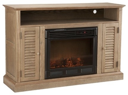 Fox 50 Tv Stand With Electric Fireplace Modern Indoor Fireplaces