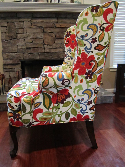 Winged back chair - Restored living-room-chairs