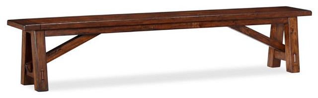 Toscana Bench, Tuscan Chestnut Stain, Small traditional-indoor-benches