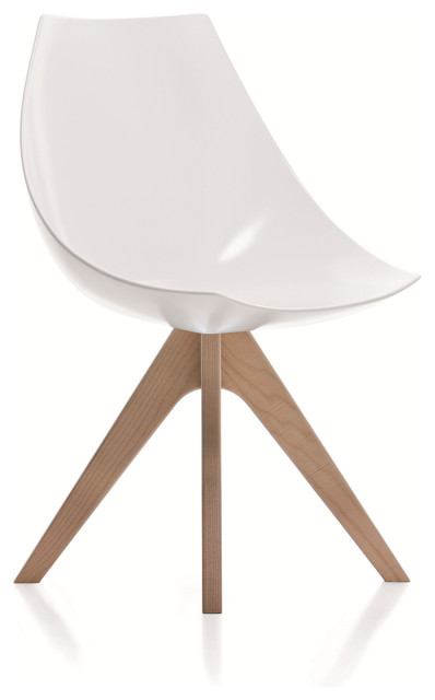 Gamma: Modern Side Chair in Hard Polyurethane. contemporary-dining-chairs