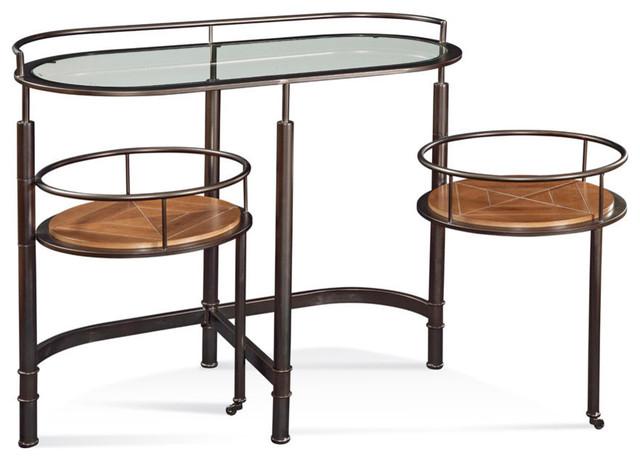 Bassett Mirror Bar Cart contemporary-bar-tables