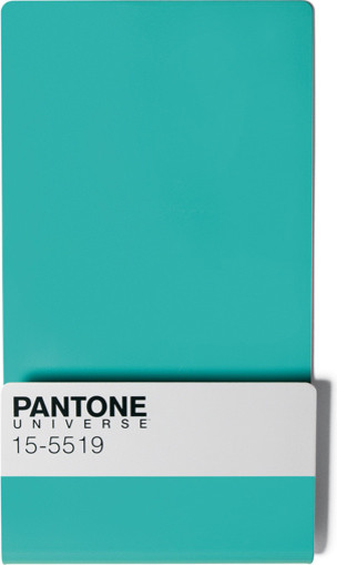 Pantone Wall Rack in Turquoise modern-display-and-wall-shelves