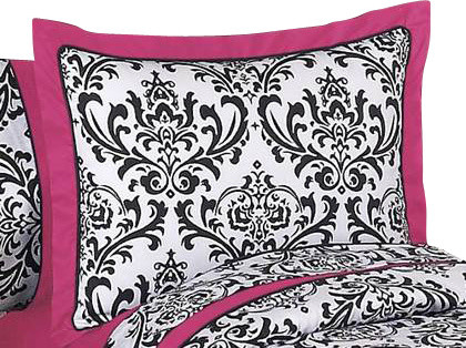 Isabella Pink Pillow Sham contemporary-bed-pillows