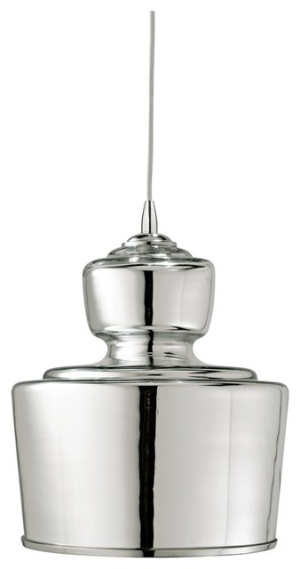 """Contemporary Jamie Young Lafitte Mercury Glass 10"""" Wide Pendant Light contemporary-chandeliers"""