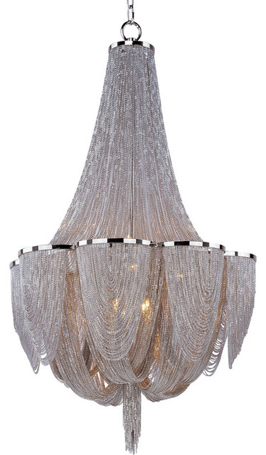 Chantilly 10 Light Chandelier by Maxim Lighting eclectic-chandeliers