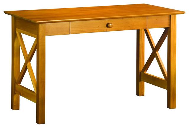 Atlantic Furniture Lexington Writing Desk in Caramel Latte transitional-desks